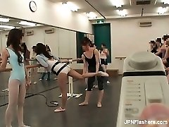 Dark haired Chinese super-bitch dancing ballet part5