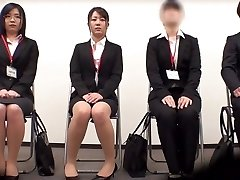 Incredible Japanese woman Minami Kashii, Sena Kojima, Riina Yoshimi in Best casting, office JAV scene