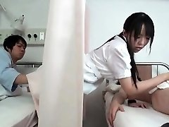 Horny black-haired Japanese nurse part4