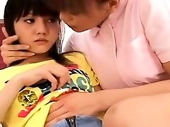 Subtitled Chinese lesbian nurse with thrilled patient