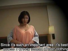 Subtitled Japanese motel rubdown oral sex nanpa in HD