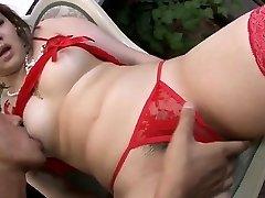 Lingerie model, Ai Yuumi, loves oral stimulation