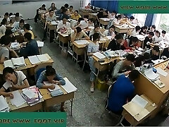 Teacher shoeplay in class 5