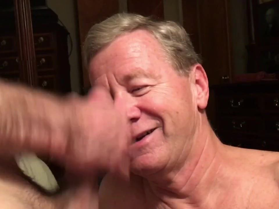 Old Faggot Cocksucker Gets Spunk Facial and Munches Cum