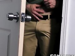 Bear daddy raw fucks his lad stepson and creaming his ass