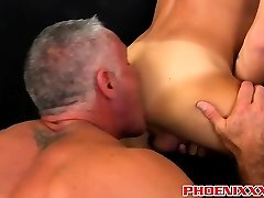 Mason Love goes down on Josh Ford, inhaling that daddy cock.