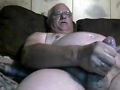 grandpa jizm on cam
