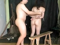 Brutal Asian suspension restrain bondage and torture