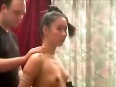Asian Teen Dominated, Smacked & Choked By Master