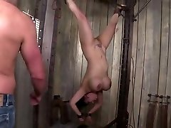 kinky big titted asian milf gets tied, penalized and dp