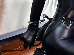 Bondage leather Submissive chick