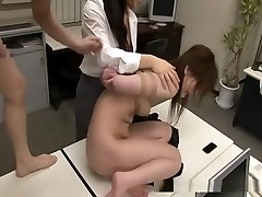 Asian sweetheart bounded and fucked by two boys