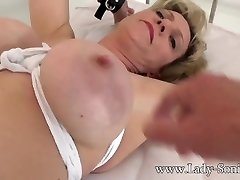 Brit mature Lady Sonia gagged and bound to the bed