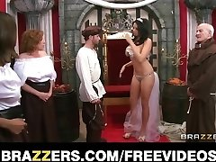 The queen receives caught cheating and is punished with coarse-se