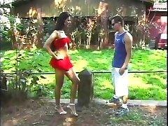 Blowing Her Brazilian Knob