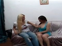 Sexy Blond Shemale Fucks A Latina Babe Really Deep