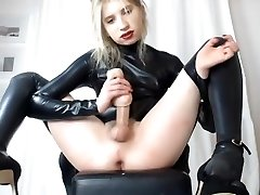 Visceratio in latex suit cumshow Two