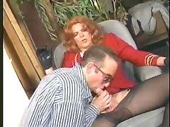 Candy B Vintage Shemale  sucks cock and pummels her lover