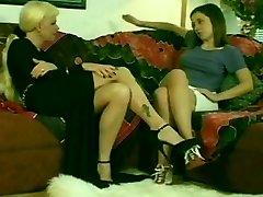 Hot Blonde Transgirl & Hot Teen Black-haired Girl
