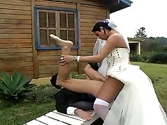 Hot t-model bride fucks new hubby