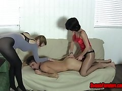 Femdom Strapon Chastity and Cum Feeding Compilation