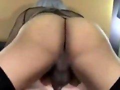 Ebony she-male fucks white guy