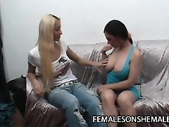 Miki and Lola - Latina Pulverized By Her Ladyboy Friend