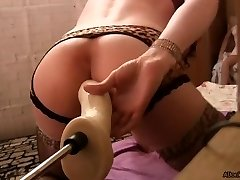 Sissy and Best Anal Dildo, porking machines, close up.mp4