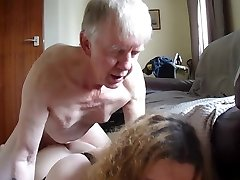 Blue eyes Father is fucking her Transgender Daughter