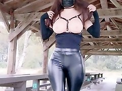 Latex Trousers and Flashing Boobs