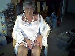 Enjoying vintage nylon undergarments