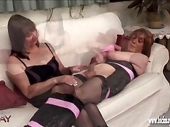 Naughty kinky TGirl wrapped and bound before wanking and shooting her explosion