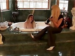 two Blond Trannies in Bathroom