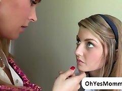 Milf Tanya makes love with teen Staci