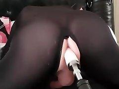 delilah crossdresser torn up by sex machine