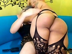 Shemale Couple Spanking Ass and Suck Cock
