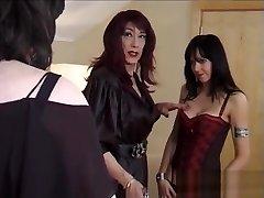 Crossdressers on Webcam fucking
