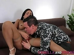 Shemale in stocking cums