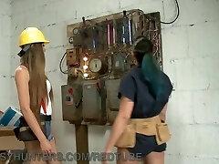 Transsexual Electrician Fucks Punk Nerd