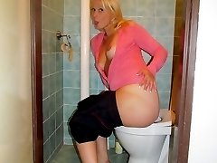 Beautiful and gorgeous blonde babe Lilith S. is enjoying in her bathroom where she gladly shows...