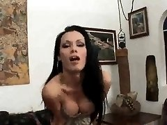Shemale babe Kalena Rios tugging on her hard cock