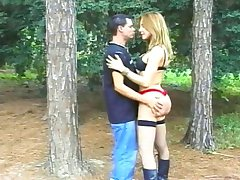 Tranny banging in the woods