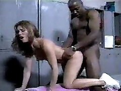 Ebony stud fucks cheerleader