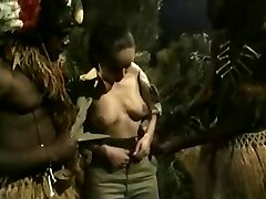 Busty Brunette Gets Pummeled By Jungle Big Black Cock Monsters