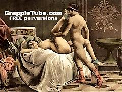 Vintage retro classical hardcore screwing and oral hardcore sex perversions