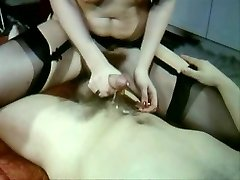 Mind-blowing Vintage video of hot sex stockings and fur