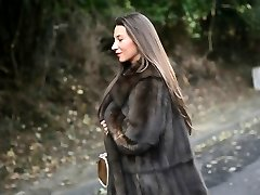 exhibitionist: naked under luxe wool coat & vintage garterbelt