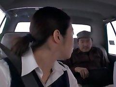 Crazy Japanese dame Nao Mizuki, Hikari Hino in Super-naughty Car, Cunnilingus JAV movie