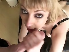 Busty ash-blonde an dirty throat face fuck swallow