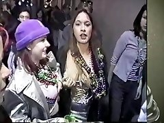 Mandi becomes a bead whore at Mardi Gras 2001